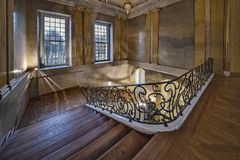 Berlin, Niemcy, Lipiec 2, 2017 Charlottenburg pałac widok klatka schodowa Schloss Charlottenburg kasztel w Berlin obraz royalty free