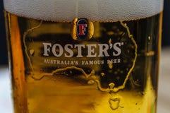 BERLIN, NIEMCY, Maj 10 2016, Foster logo na piwnym szkle Obraz Stock