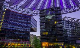 BERLIN, 01 NIEMCY Maj 2015 Sony centrum na Potsdamer Platz, Zdjęcie Royalty Free