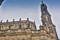 BERLIN NIEMCY, PAŹDZIERNIK, - 02, 2016: Histoirical centrum Drezdeński Stary miasteczko Drezdeński długą historię jako Fotografia Stock