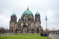 25 01 2018 Berlin, Niemcy - Piękny widok historyczny Berlin C Obrazy Stock