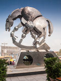 Berlin, Niemcy - rzeźba Jurgen Goertz Zdjęcia Stock