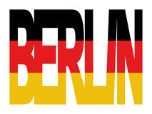 berlin niemcy tekst flagę Zdjęcie Royalty Free