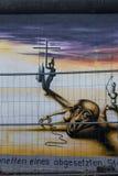 BERLIN NIEMCY, WRZESIEŃ, - 15: Berlińskiej ściany graffiti widzieć na WRZEŚNIU 15, 2014, Berlin, wschodniej części galeria Ja ` s Obrazy Stock