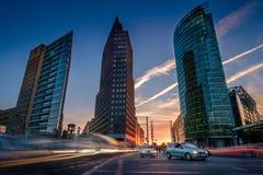 BERLIN NIEMCY, WRZESIEŃ, - 24, 2015: linia horyzontu pieniężny d Obrazy Stock