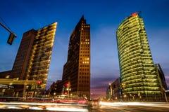 BERLIN NIEMCY, WRZESIEŃ, - 24, 2015: linia horyzontu pieniężny d Zdjęcia Stock