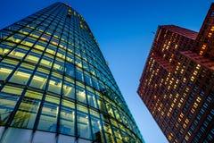 BERLIN NIEMCY, WRZESIEŃ, - 24, 2015: linia horyzontu pieniężny d Zdjęcie Royalty Free