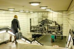 BERLIN NIEMCY, WRZESIEŃ, - 22, 2015: Metro przy Postda Zdjęcia Stock