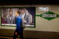 BERLIN NIEMCY, WRZESIEŃ, - 22, 2015: Metro przy Postda Fotografia Stock