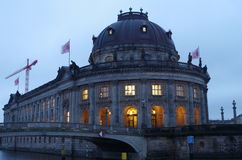 Berlin at night Royalty Free Stock Images