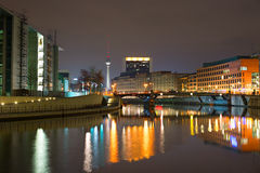 Berlin at night Royalty Free Stock Image