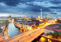 Berlin at night, Germany Stock Photography