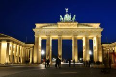 Berlin by night Royalty Free Stock Images