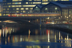 Berlin night Royalty Free Stock Photos