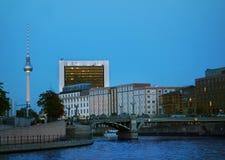 Berlin at night Stock Photography