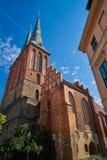 Berlin Nikolaikirche church in Germany. Baltic gothic artchitecture Royalty Free Stock Photos