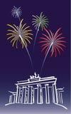 berlin nytt år Royaltyfri Foto