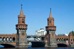 Berlin Oberbaum bridge Stock Image