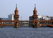 Berlin OBERBAUM bridge station Royalty Free Stock Image