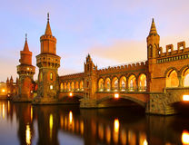 Berlin Oberbaumbridge Stock Photo