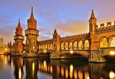 Berlin Oberbaumbridge royalty free stock photography