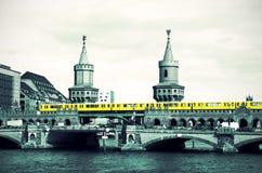 Berlin Oberbaumbruecke retro Royalty Free Stock Photos