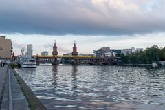 Free BERLIN - OCTOBER 19, 2016: Oberbaumbrücke Bridge Seen From East Side Gallery Royalty Free Stock Photography - 110220307