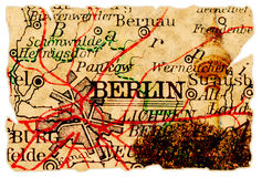 Berlin old map Royalty Free Stock Images