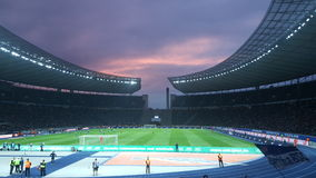 Berlin Olympiastadion hertha bsc Royaltyfri Foto