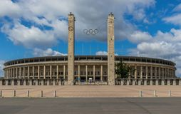Berlin Olympiastadion, il più grande stadio di football americano in Germania immagini stock libere da diritti