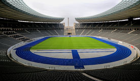 Berlin olympic stadium. The inside of the berlin Olympic stadium Royalty Free Stock Photography
