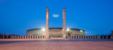 Berlin Olympic Stadium (Olympiastadion) Fotografie Stock