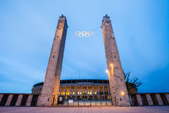 Berlin Olympic Stadium (Olympiastadion) Immagine Stock