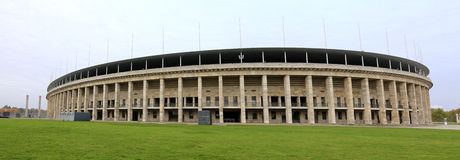 Berlin olympic stadium. The outside of the berlin Olympic stadium Royalty Free Stock Photos