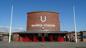 Berlin Olympic Stadium Subway Station stockfotografie