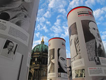 Berlin open air exhibition Stock Photography