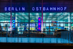 Berlin Ostbahnhof (ferrocarril de Berlin East) Imagenes de archivo
