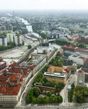 Berlin over Spree river Royalty Free Stock Photos