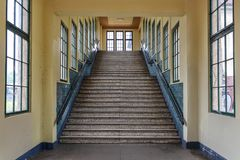 Berlin - Pankau Underground view of the staircase of the bahn Royalty Free Stock Images