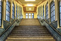 Berlin - Pankau Underground view of the staircase of the bahn Royalty Free Stock Image