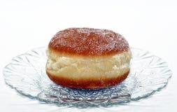 Berlin pannkakor släppta på vit bakgrund royaltyfria foton