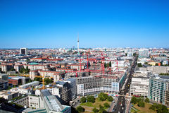 Berlin panorama. Berlin Cathedral and TV Tower Royalty Free Stock Photo
