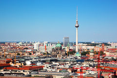 Berlin panorama. Berlin Cathedral and TV Tower Royalty Free Stock Images