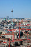 Berlin panorama. Berlin Cathedral and TV Tower Stock Photo