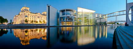 Berlin Panorama Reichstag and Reichstagufer Royalty Free Stock Photos