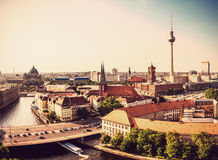 Berlin panorama view Royalty Free Stock Images
