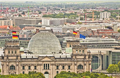 Berlin panoramic aerial view with the Bundestag building Royalty Free Stock Images