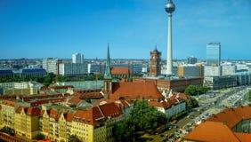 Berlin panoramic Skyline Cityscape, Germany. Alexanderplatz Royalty Free Stock Photo