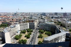 Berlin. 06/14/2018. Panoramic view from the top of a Potsdamer Platz tower royalty free stock images