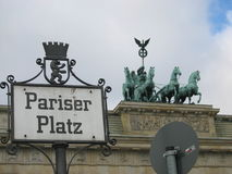 Berlin Pariser Platz. Berlin - Germany - Pariser Platz Stock Photo